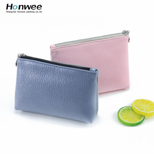 PU leather makeup young girl travel toiletry bag custom cosmetic bag