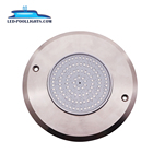 Newest Ultrathin 8mm 8W 12V Surface Mounted stainless steel swimming Pool Light IP68 LED underwater lighting Private Mode