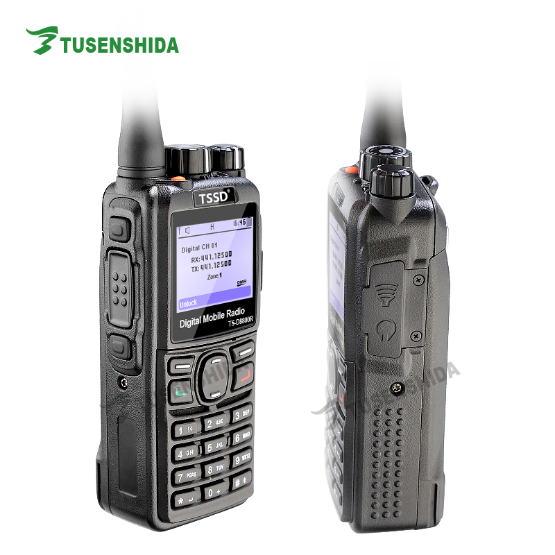Rádio digital de GPS IP67 TSSD DMR que posiciona o Walkietalkie do vhf / uhf compatível com capacidade do canal do repetidor 1000