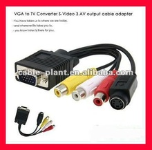 1080P High quality cable VGA RCA casero with two ferrites