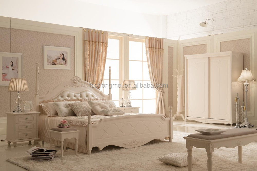 White Painting Classic Solid Wood And Mdf Carving Bedroom Furniture Buy Car