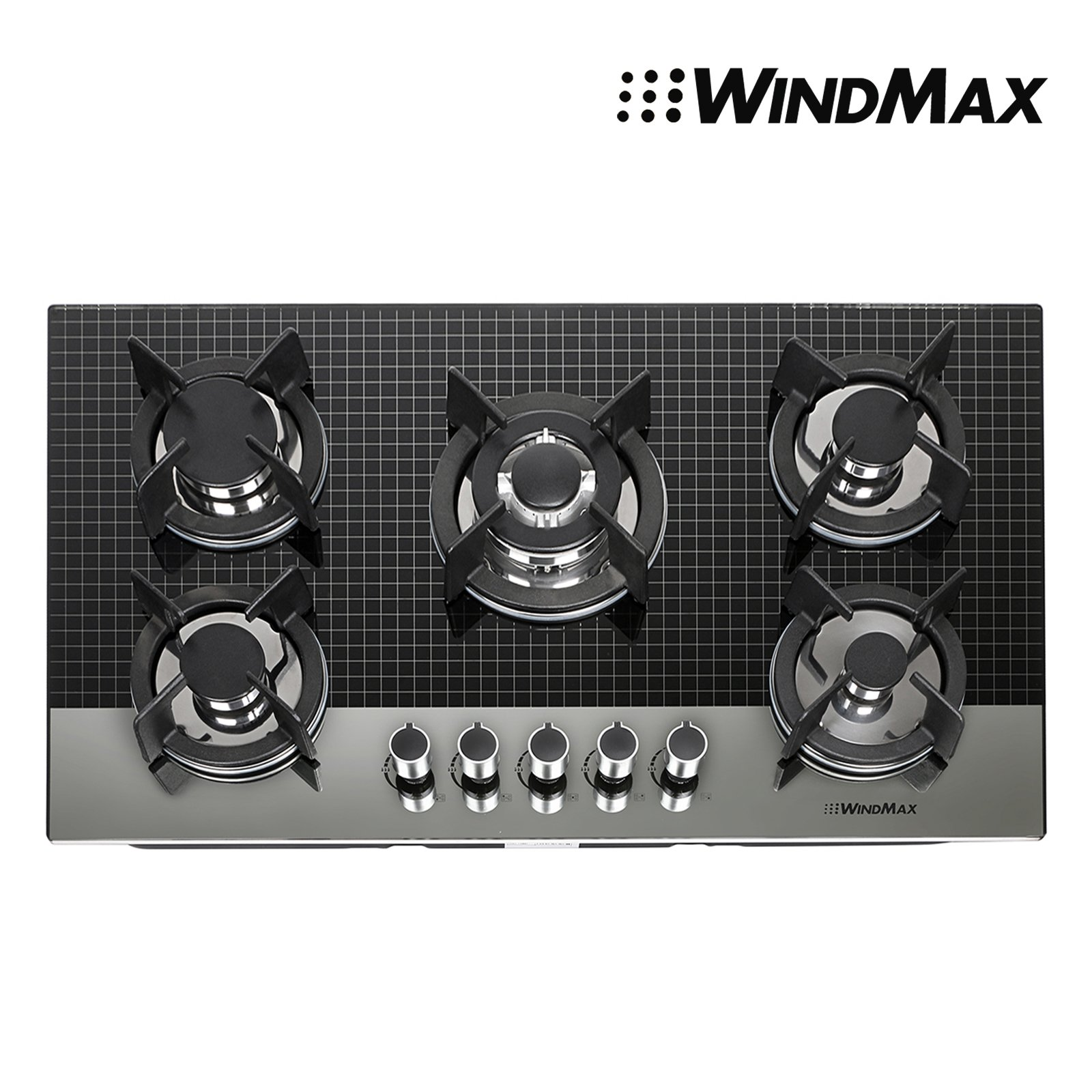 WindMax 30 Black Titanium Stainless Steel 5 Burner Built-In Stoves Gas Cooktop Cooker Appliances
