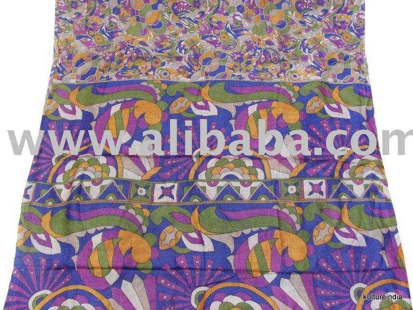 VINTAGE 100% PURE SILK SARI OLL/USED SAREE FABRIC