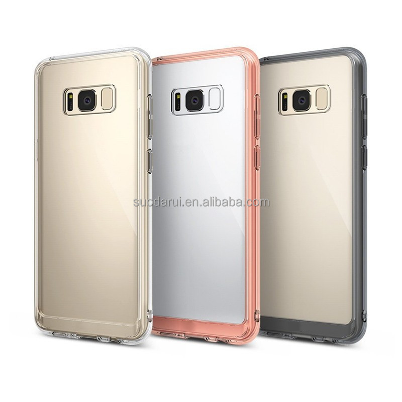 High quality bumper TPU and Back Transparent Crystal Clear For Samsung Galaxy S8 SM-G9500 S8 plus