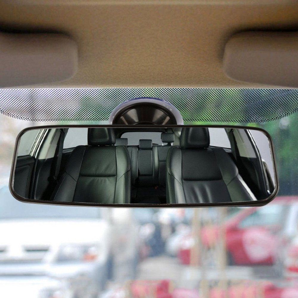 Rear View Interior Car Mirror Adjustable Suction Cup Wide Long ...