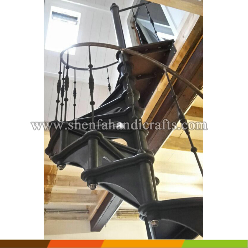 decorative exterior used small spiral stair Model 1880