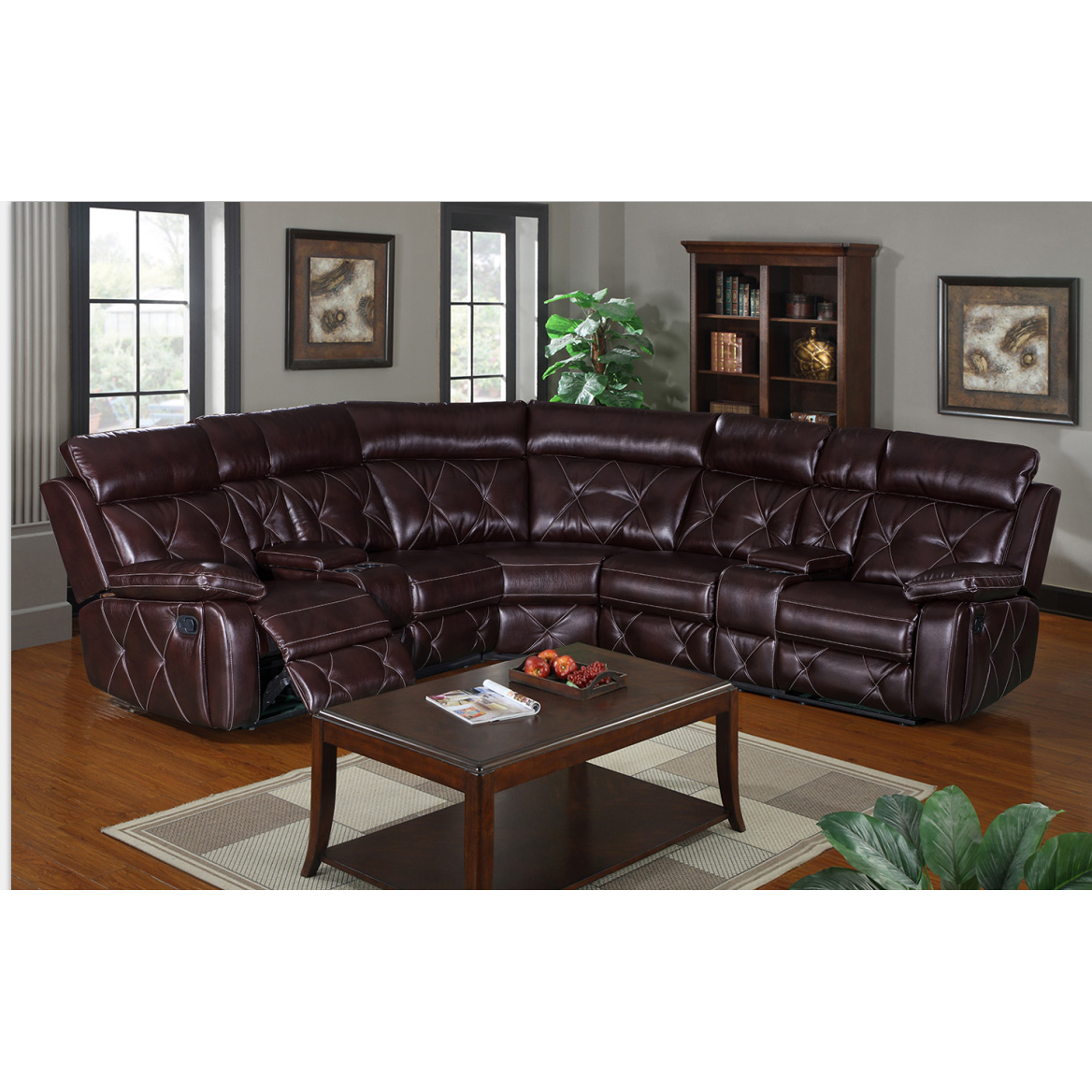 China Supplier European Style Living Room Leather Sectional Recliner Sofa -  Buy Sectional,Sectional Couch,U Shape Sectional Sofa Product on ...