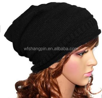 Black Wool Custom Leather Patch Beanies 347133f1e8e