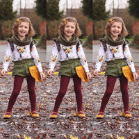 Fashion 2pcs Baby Girl Kids Set Fashion Top+shorts Clothing Outfit Winter Girls Clothing Boutique