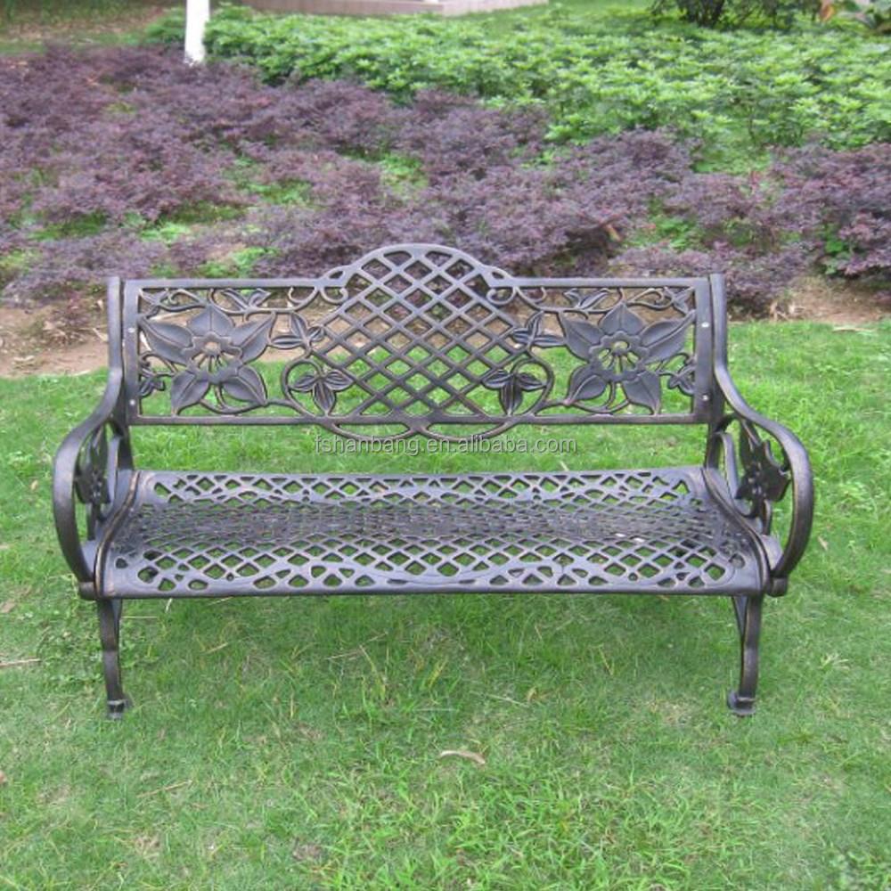 Blanc noir bronze d coratif ext rieur en aluminium de for Banc de jardin metal blanc