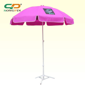 2018 China sun garden custom printing umbrella, outdoor beach umbrella supplier