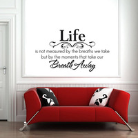 Removable vinyl wall stickers quotes