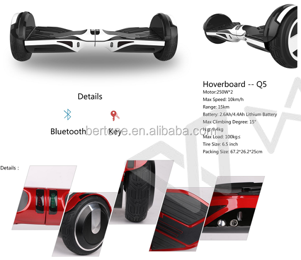 New design 6.5inch Smart Balance 2 Wheel Hoverboard scooter