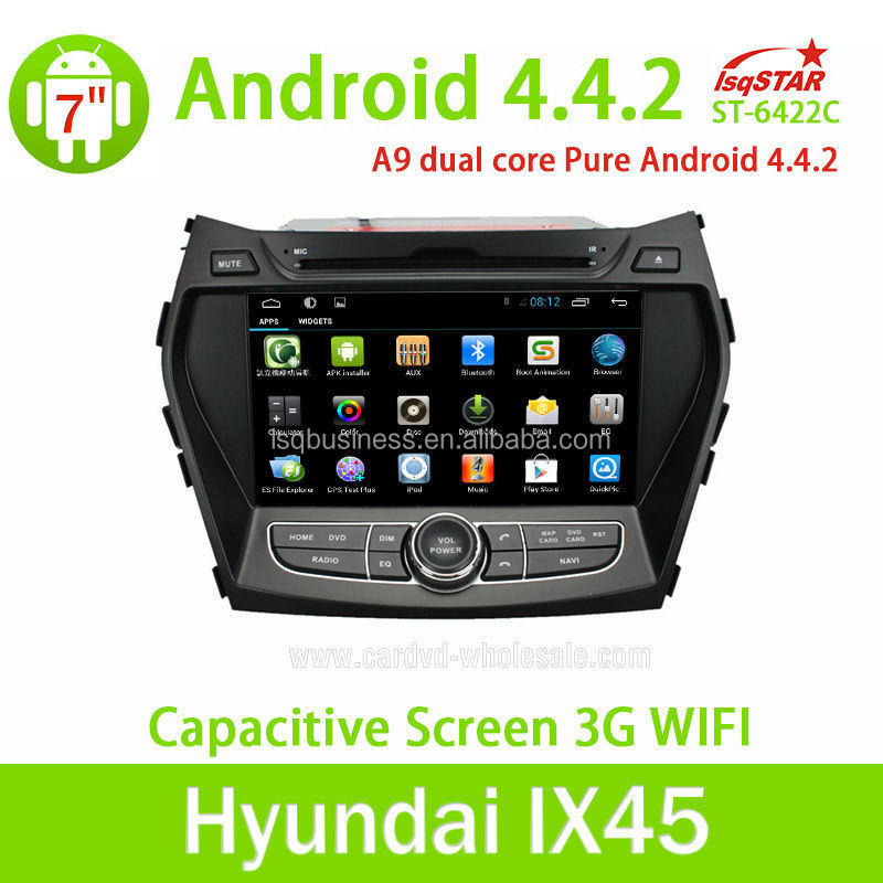 High quality touch screen android car dvd player for Hyundai IX45/Santa Fe 2013 car radio dvd gps navigation system