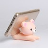 Novelty Silicone Bear Office Desk Decoration Mobile Phone Holder Cell Phone Stand Holder Silicon Tablet Cellphone Support Holder