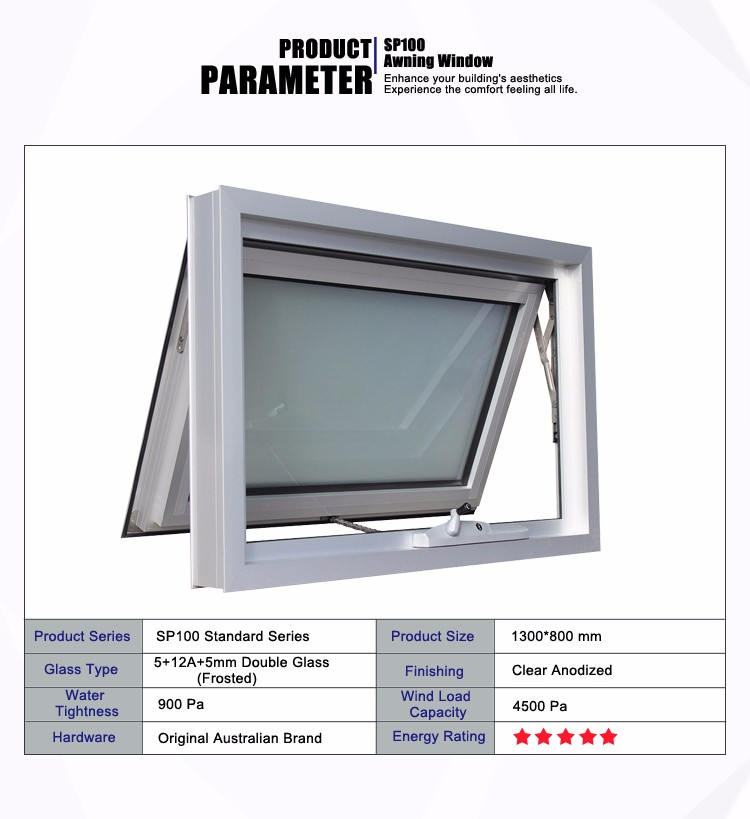 Hot Sale Aluminum Crank Casement Awning Windows Standard