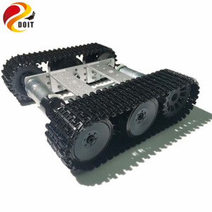 Official DOIT Mini T100 Metal Robot Crawler Tank Car Chassis Tracked vehicle Smart Car Robot Competition DIY RC Robotic Toys Kit