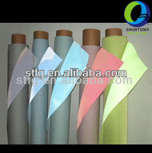 100% polyester synthetic reflective polyester fabric / cloth / textile