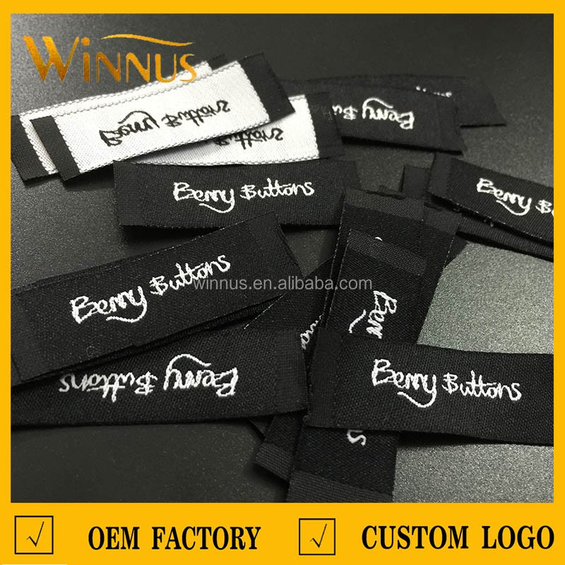 cheap custom sew in woven labels low minimum
