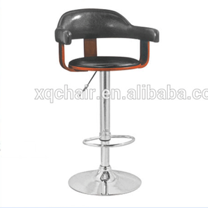 XQ-093 Chinese product bentwood swivel bar stools with PU leather covered