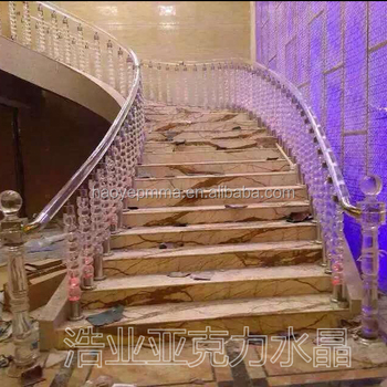 Antique Round Wood Glass Stair Railings Price