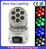 7pcs 10w mini led moving head professional show lighting and price