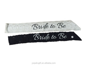 sexy lace bride to be sash