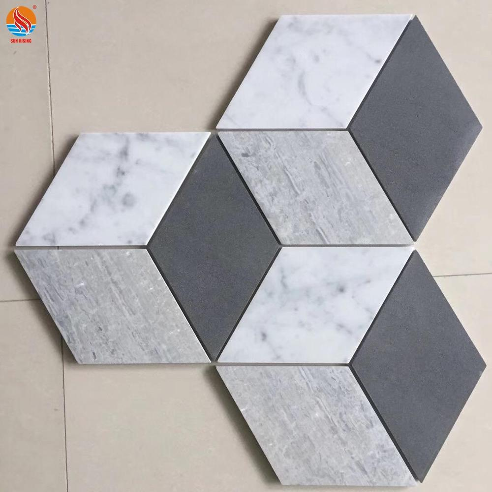 Natural Hexagon Marble Stone Pattern