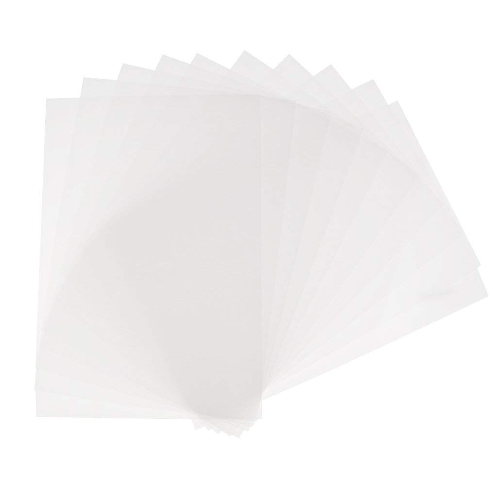 Jili Online 10 Pieces Clear Heat Shrink Paper Sheets for DIY Drawing Crafts Jewelry Making Hanging Decoration Rough Polish