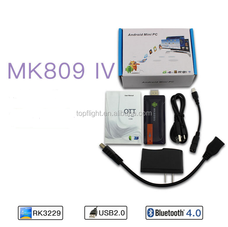 Mk809 4k Tv 3d Android Rk3288 Quad Core Bluetooth Wifii Mini Pc Tv Box Tv  Dongle With I8 Air Mouse - Buy 4k Tv 3d,Rk3288,Tv Dongle Product on