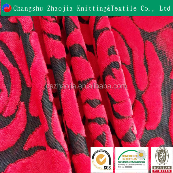High-quality textile supplier wholesale warp knitted print South Korea velvet Cationic jacquard sofa fabric for An Indian
