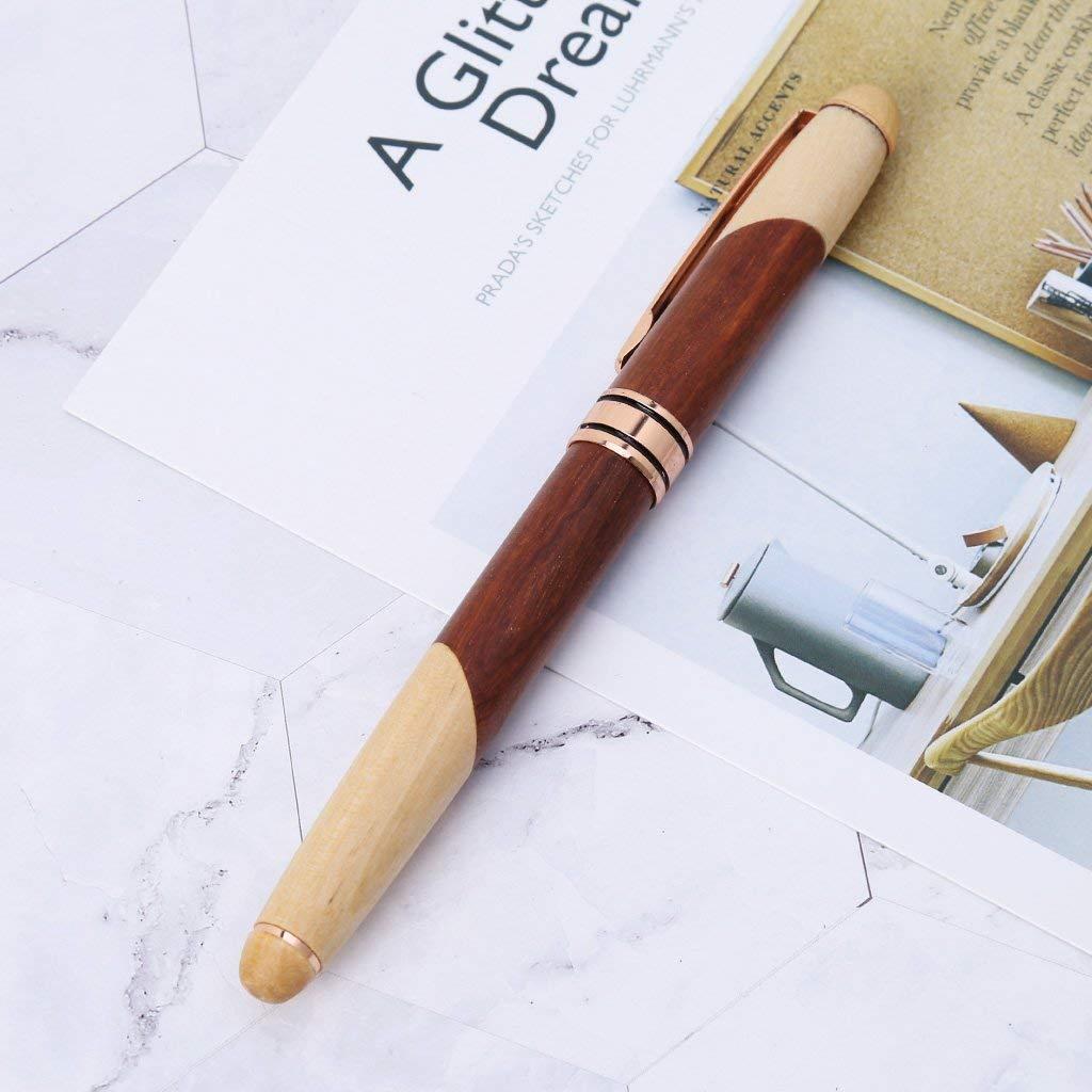 Get Quotations Milue Luxury Wood Calligraphy Art Fountain Pen Medium Nib Office Writing Business Gift