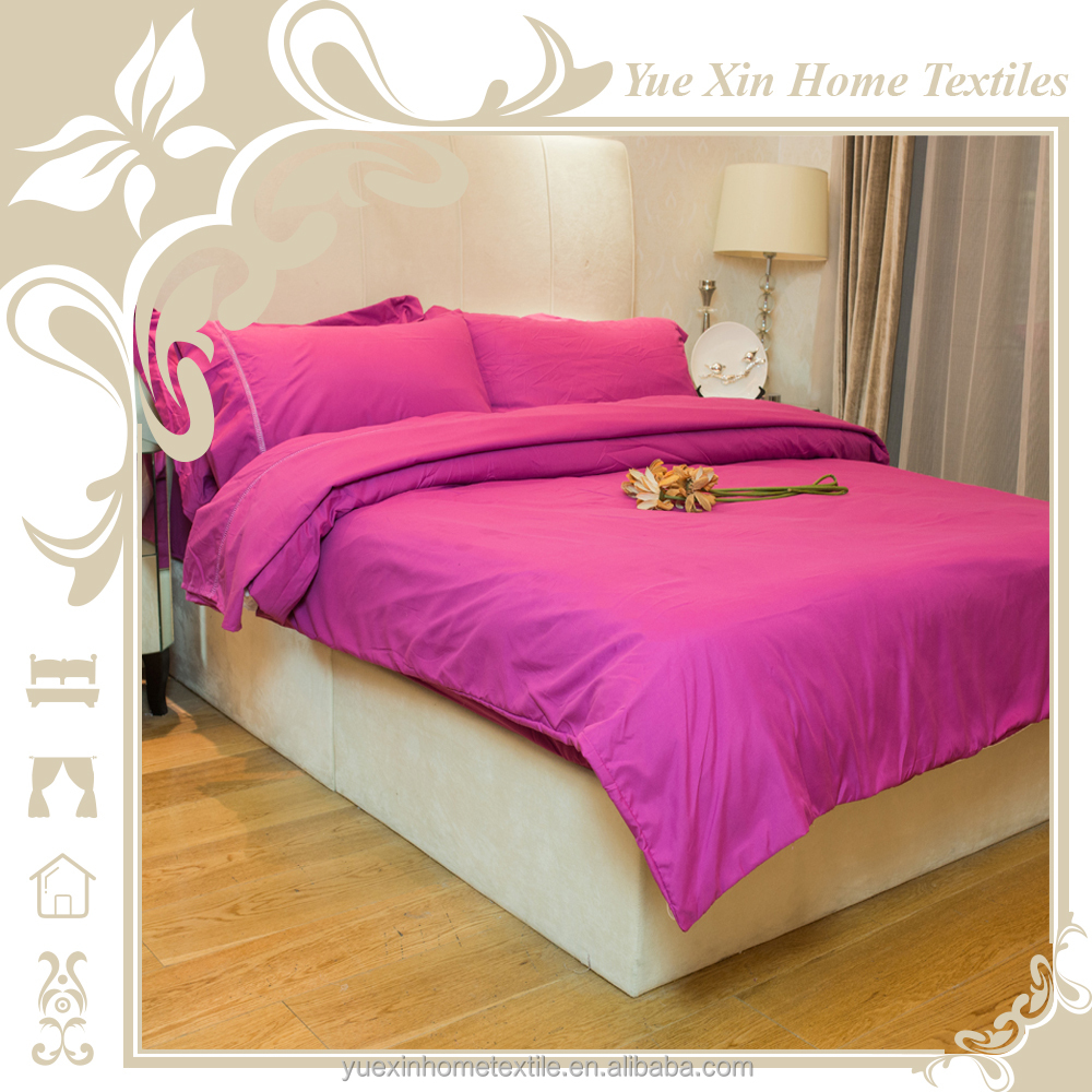 Three piece household colorful printed flower design bed sheet