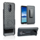 Dual layer full protect belt clip holster combo shell case for alcatel 7