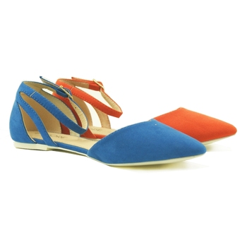 Latest Designs Colour Pointed Toe Women Flat Sandals