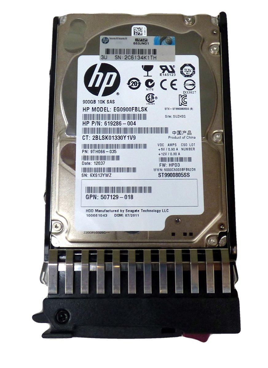 619286-004 HP 900GB 10K RPM 2.5 Inches 6gbit SSF SAS Dual Port En
