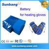 customized 3.7v 7.4v 1800mah lithium rechargeable battery for heated jacket/blankets/gloves