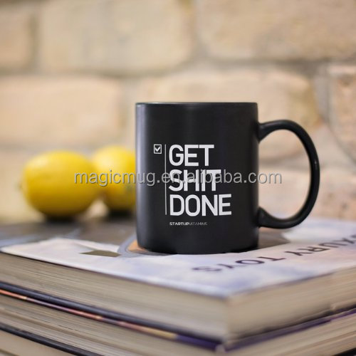 Wholesale Get Shit Done Matte Black Coffee Mug From China Supplier