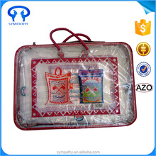 Wholesale Cheap Clear PVC carrier pillow plastic bag