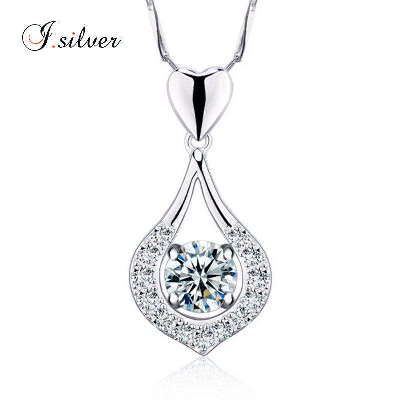 European style 925 Sterling Silver zircon pendant jewelry wholesale P20046