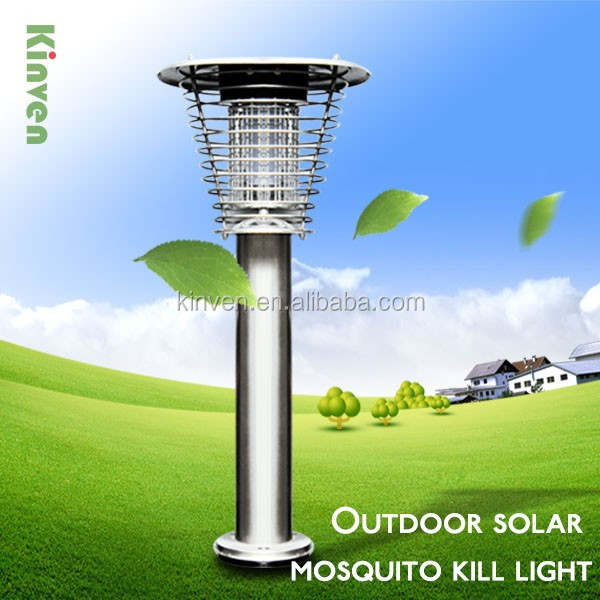 Outdoor solar mosquito kill light garden light and panel