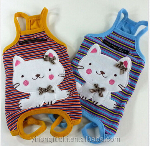 Dog Clothes,All-in-One Suits Cat Embroidered Overalls