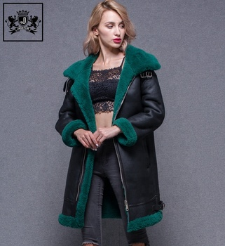 Genuine Sheepskin Fur Leather Jacket for Women f2cccd016