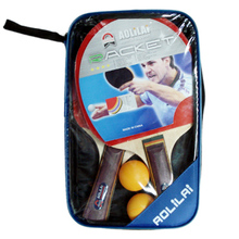 wholesale training customize Poplar wood table tennis set / ping pong paddle rackets