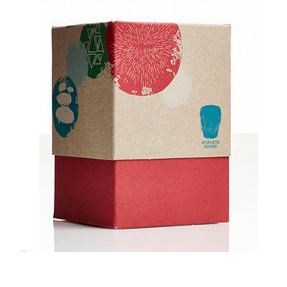 Colorful kraft mailing box with soy ink printing