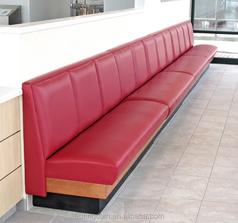 Hot Sale Restaurant Furniture Red Leather Booth Sofa Bar Club Booth ...