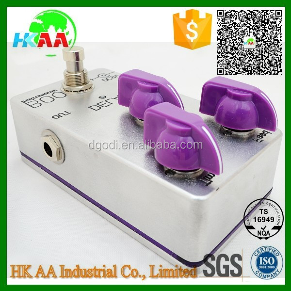 Custom precision guitar effect pedal, DIY white oem guitar effect pedal