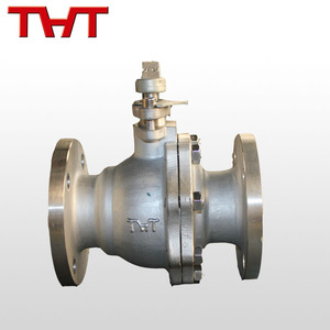 stainless steel 4 inch flange ended 2pc ball valve