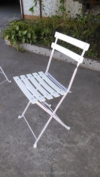 white color powder coated metal folding bistro chair buy bistro