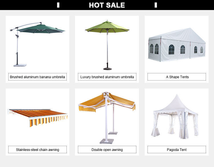 Heavy Duty Center Pole Customized Outdoor UV protection Square Parasol Garden Umbrella